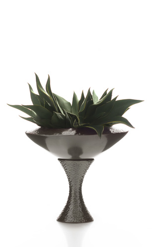 VERANO BOWL WITH BASE - CERAMIC VASE MADE IN ITALY