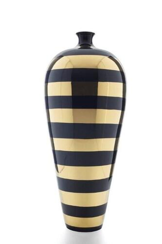 EGYPT - STRIPES CERAMIC VASE MADE IN ITALY
