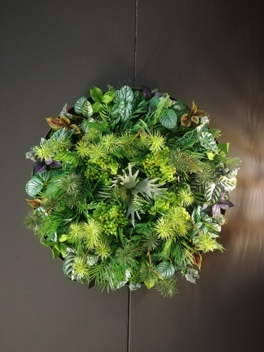 Round vertical green dettaglio fronte by passionecreativa