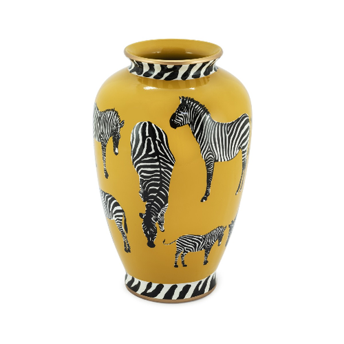 VASO ZEBRA ocra HOME DECOR