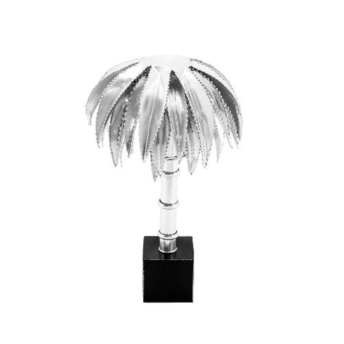 Lampada da tavolo PALM argento h 30 Ø 26 cm