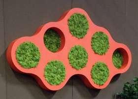 GREEN LIBRARY col. rosso con licheni,  dettaglio by passionecreativa