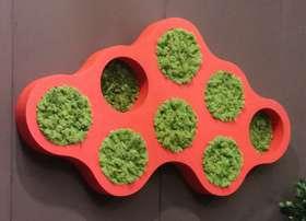 GREEN LIBRARY col. rosso con licheni stabilizzati,  dettaglio by passionecreativa