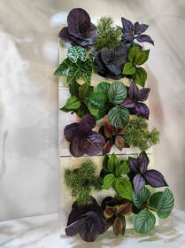 TRIO quadro con piante artificiali mix